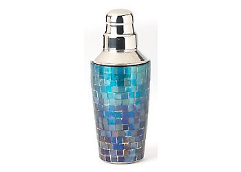 Prepare your favorite cocktails with this Mosaic Cocktail Shaker by Florida Marketplace. Featuring a colorful mosaic finish