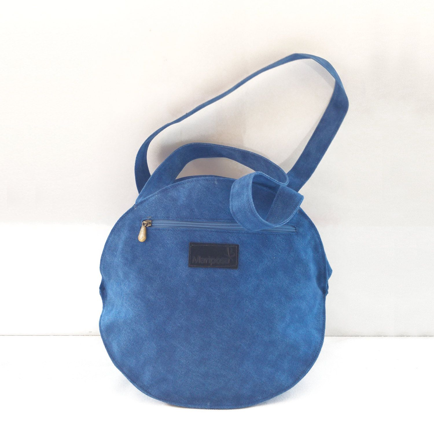 Blue Canvas Backpack cf35f1be5d80a