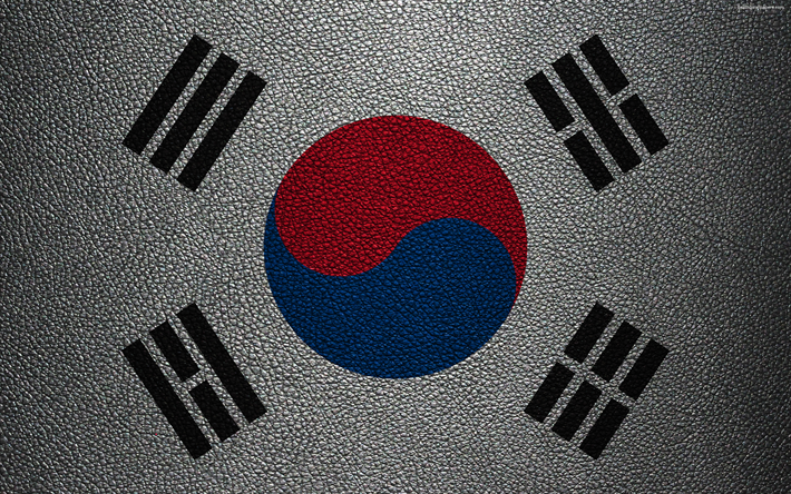 Download Wallpapers Flag Of The Republic Of Korea 4k Leather Texture Korean Flag Asia World Flags Republic Of Korea South Korea Besthqwallpapers Com Korean Flag Flags Of The World Leather Texture
