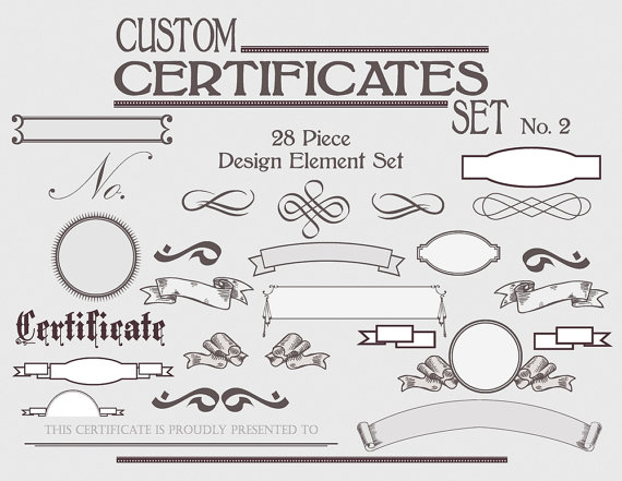 Certificate Template Set Instant Download - Personalize Custom - certificate document template