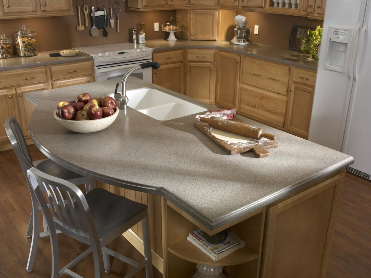 Solid-Surface Kitchen Countertop