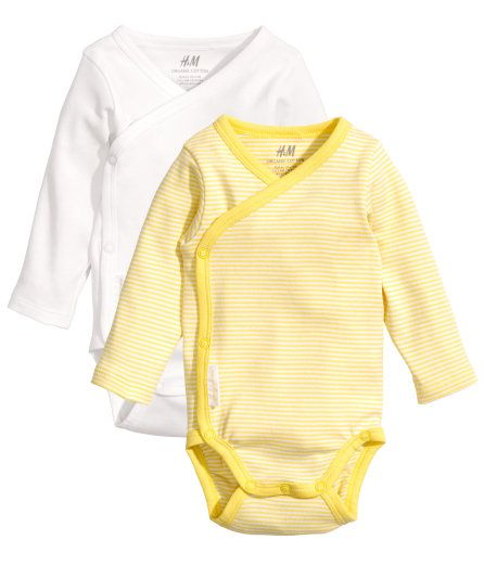bf6f25bbe5b3 Kimono wrap or snap zip down the front side onesies. You will reach for  these first before the pullover ones. Many retailers make them