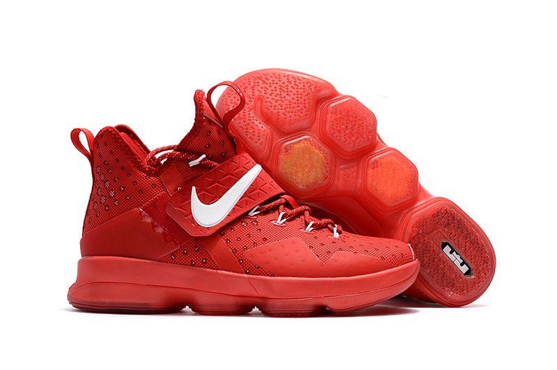 Shop Nike Lebron 14 All Red White