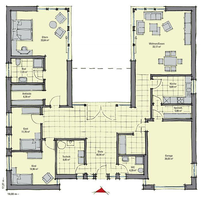 Bungalow cote d 39 azur h user und baupl ne nach meinem for Atriumhaus bauen