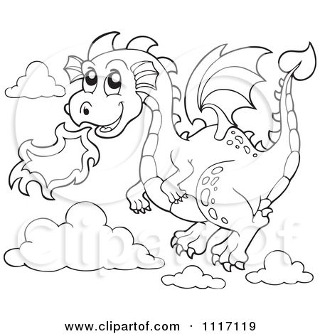 Dragon Breathing Fire Coloring Pages | How To Draw A Dragon Flying ...
