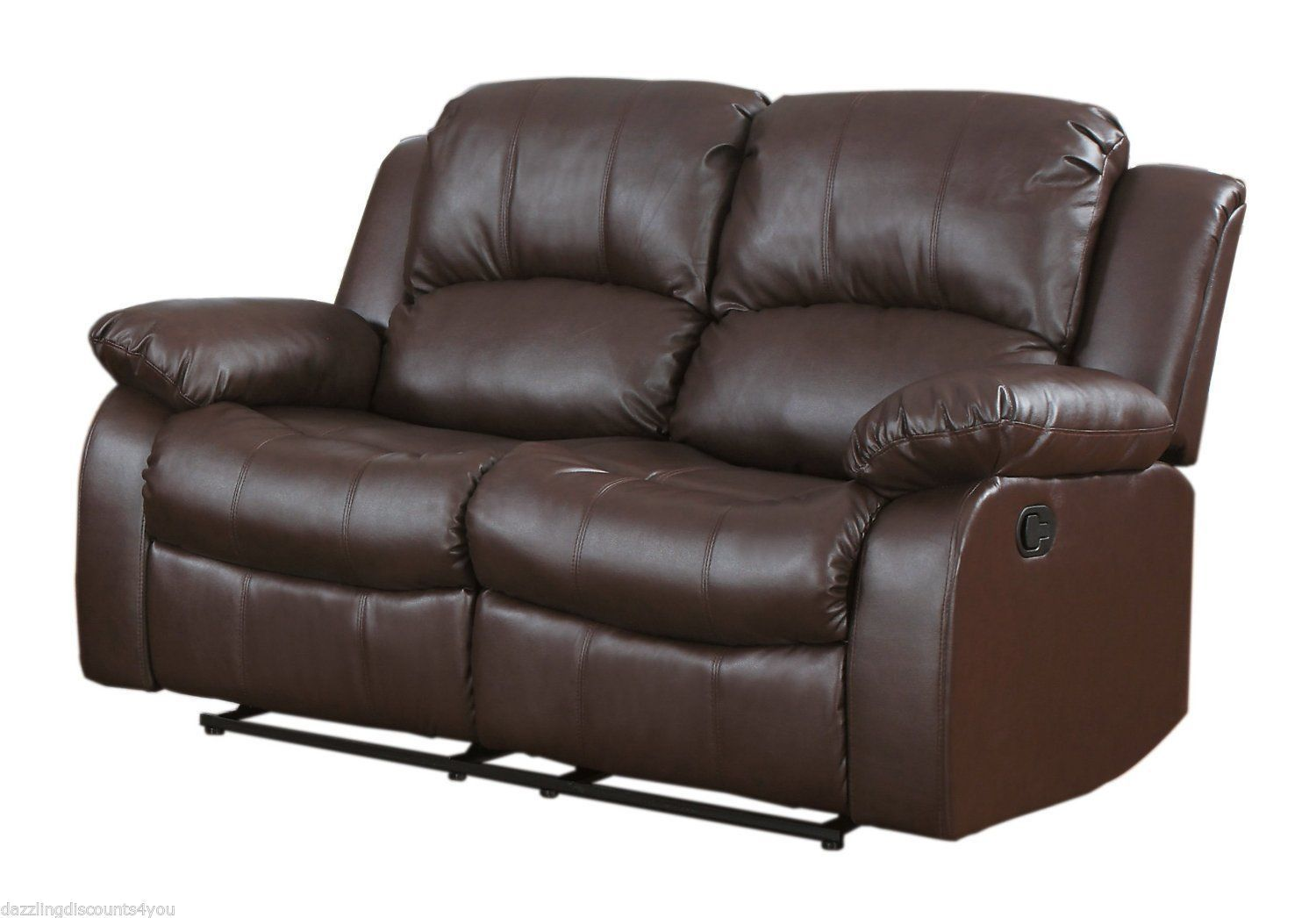 Sofas Loveseats And Chaises 38208 Traditional Brown Love Seat 2 Seater Bonded Leather Recliner