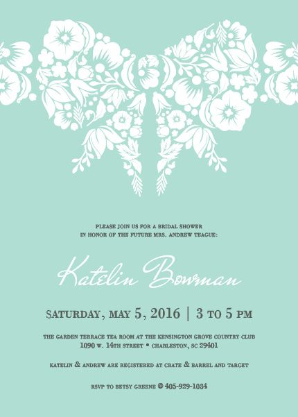 Wrapped With a Bow Bridal Shower Invitation | www.papersnaps.com