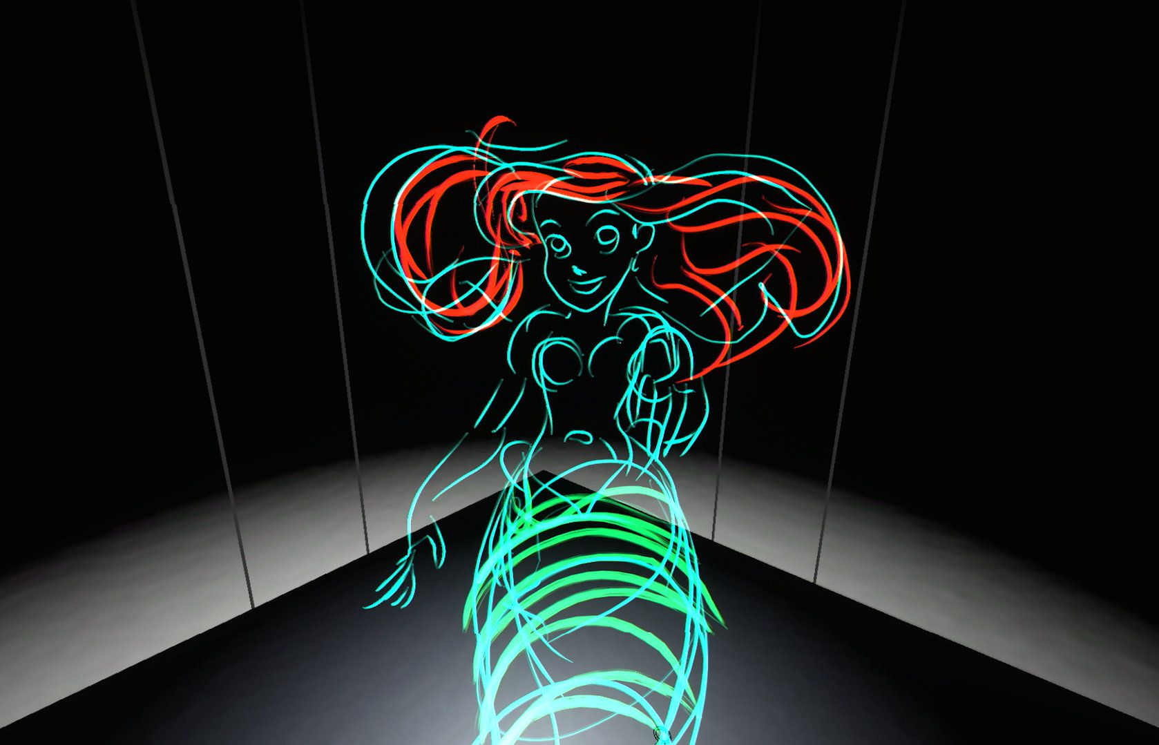 Tilt Brush, a 3D tool created by two men and now owned by