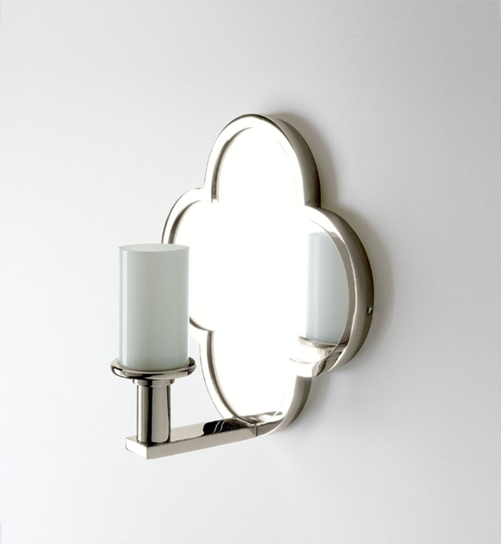 Wall Mounted Clover Quadrifoil Single Arm Mirror Sconce / Waterworks ...