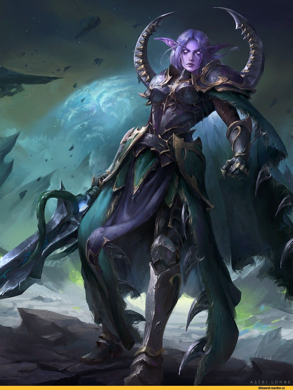 female night elf lancer | Fantasy : Character | Warcraft art