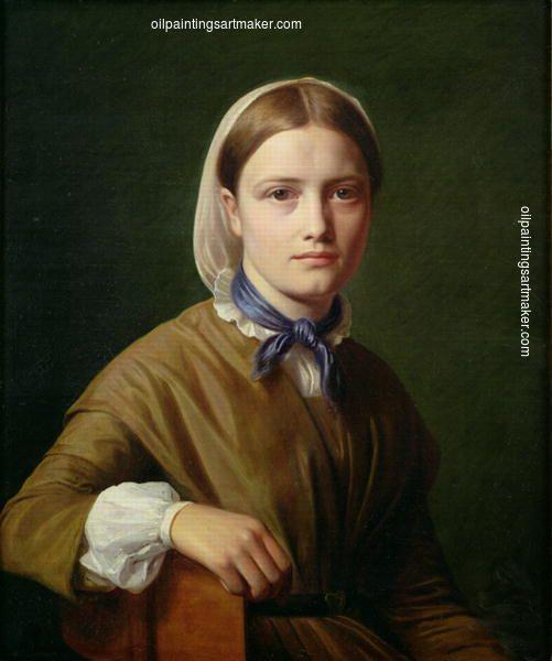 Constantin Hansen Christiane Købke, painting Authorized official website