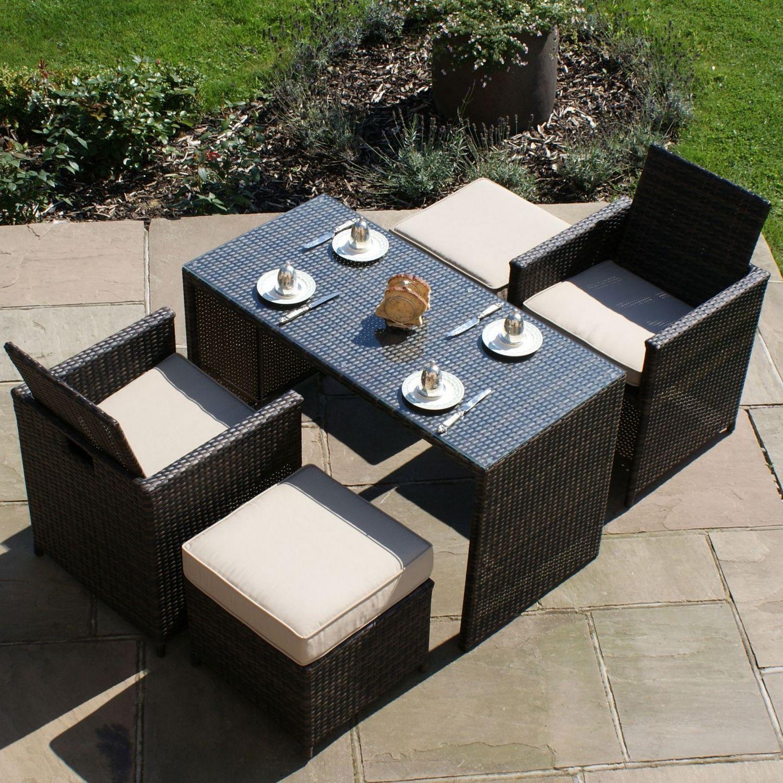 Maze Rattan Garden Furniture Brown Balcony Cube Set In 2020 Rattan Garden Furniture Garden Furniture Rattan