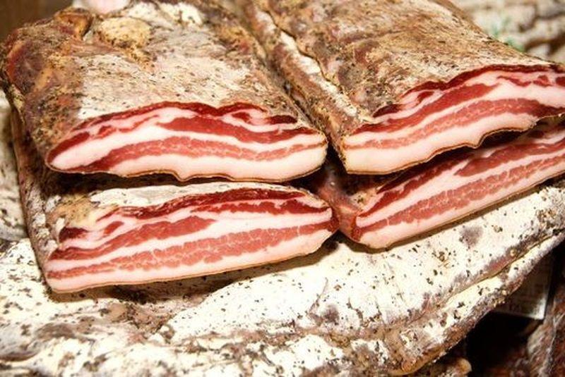Slanina is product of smoked and salted pork  #Croatia