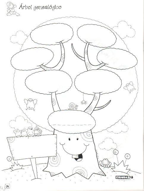 Dibujos Para Colorear Pintar E Imprimir Arbol Genealogico Para Colorear Arbol Genealogico Para Ninos Arbol De Valores