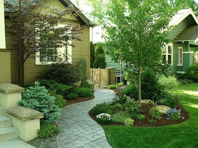 Pin By Terri Mayo On Home Decorating Front Yard Landscaping Design Front Yard Landscaping Evergreen Landscape