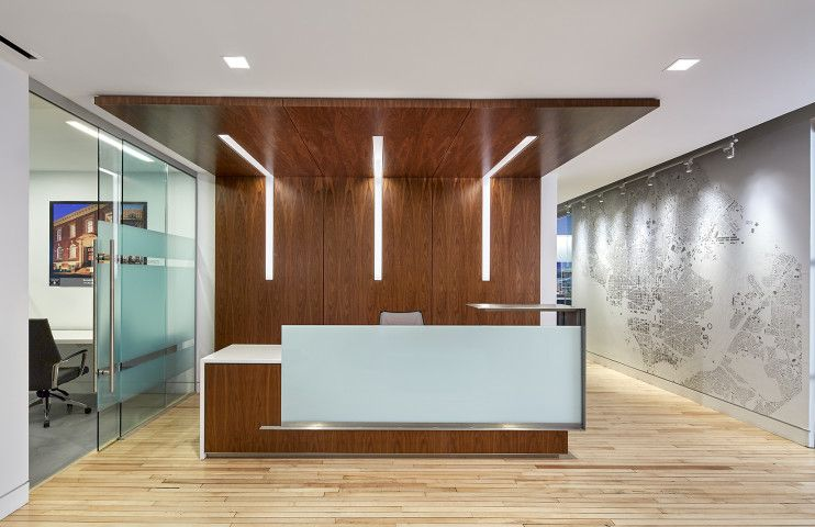 The Hive Architect S Studio At 1728 Bonstra Haresign Architects Reception Desk Design Glass Wall Systems Sliding Door Systems
