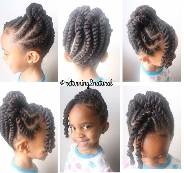 9 Cute Protective Styles From Returning2natural Perfect For Your Little Girl Natural Hair Styles Hair Styles Natural Hairstyles For Kids