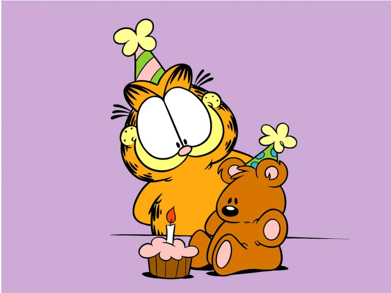 Make A Wish Garfield Pookie Garfield Imagenes Garfield Y Sus Amigos Feliz Cumpleanos Garfield