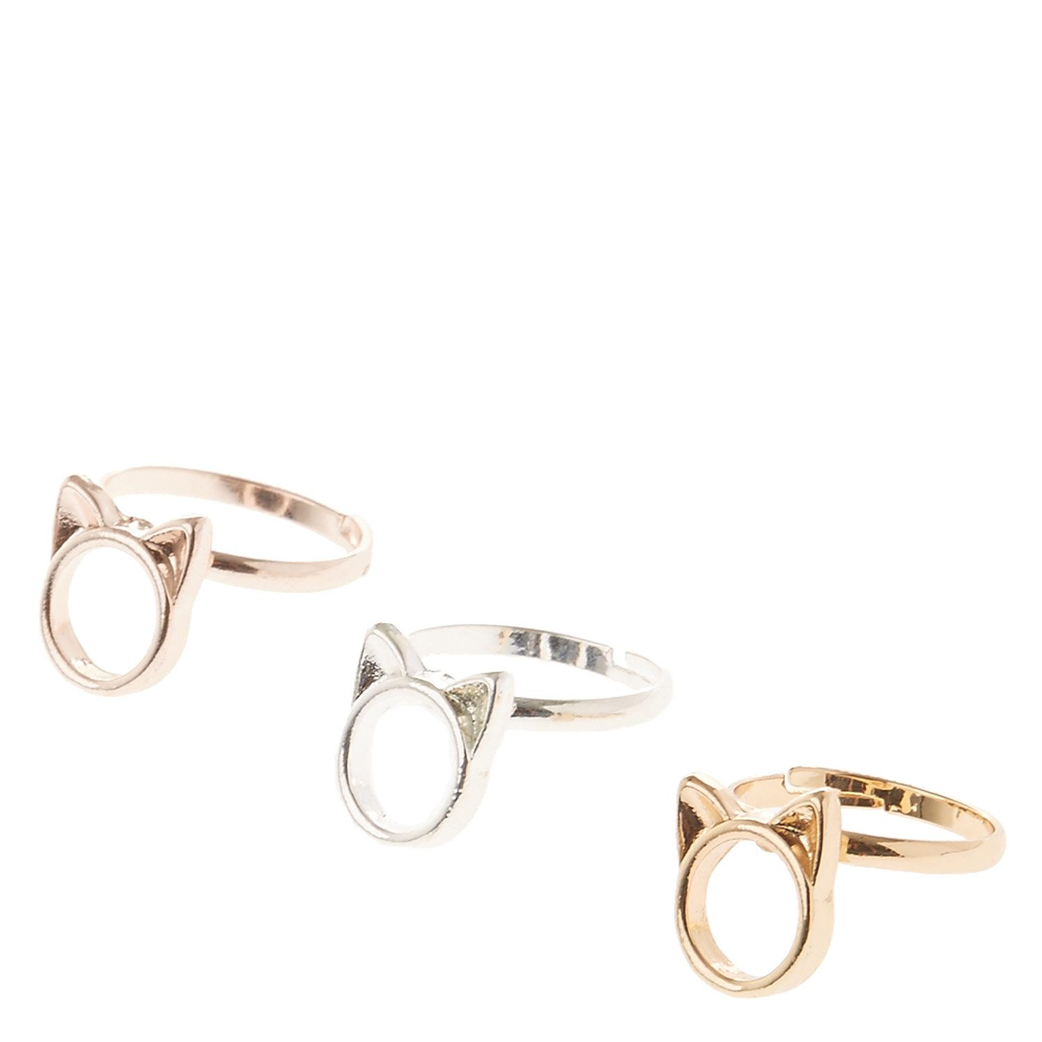 set p multi face girl gold just rings en of
