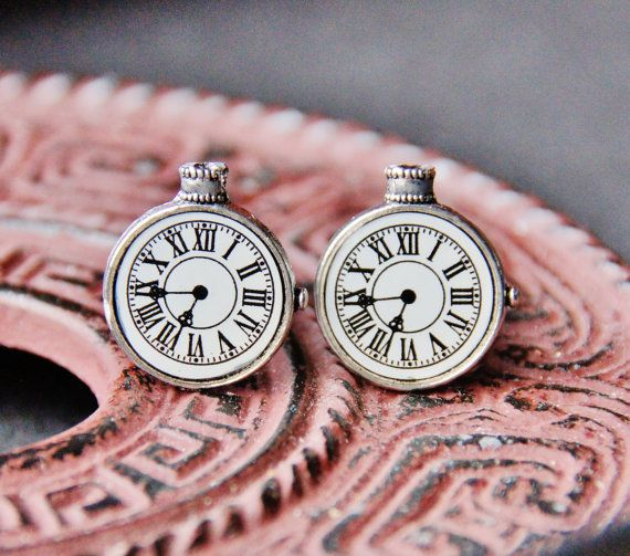Clock Cuff Links  Stop Watch Cufflinks  Old by CleopatraNYC, $49.00