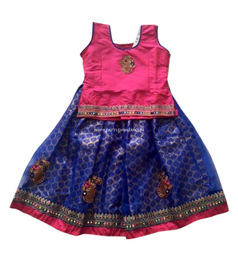 Fancy Pattu Langa Pattu Langa Hyderabad Shopping Traditional Kids Langa Babies Langa Fancy Pattu Pav Lehenga Online Shopping Blouse Designs Lehenga Online