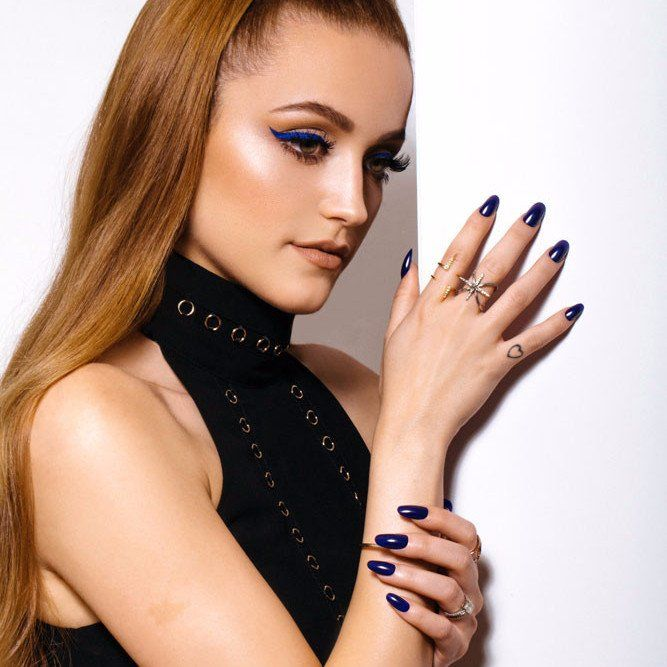 Blue Nails Nail Color For Dress Amazing Stickers