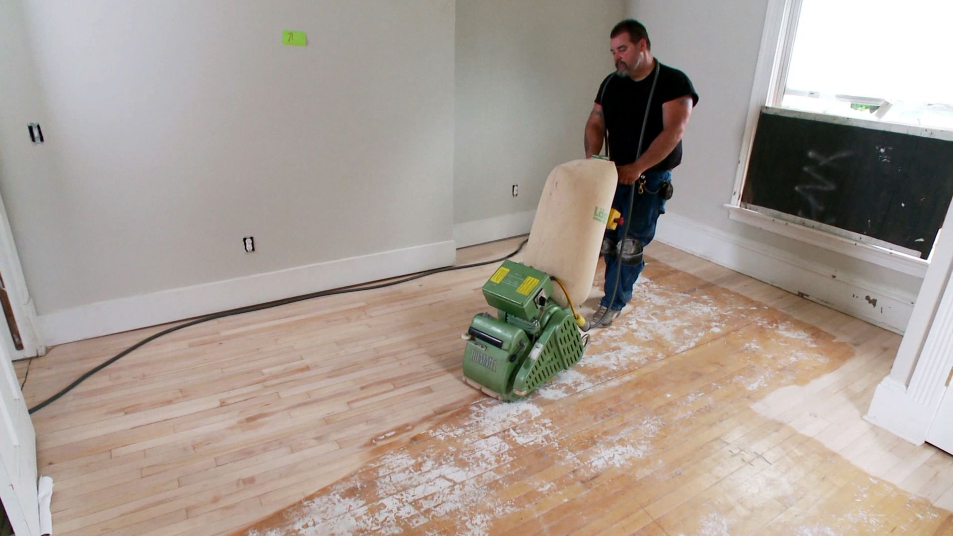 Drill Brushes And Floor Sander How To Refinish A Hardwood Floor Refinishing Hardwood Floors Hardwood Floors Wood Refinishing