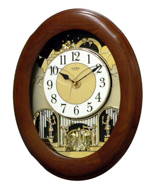 Cts Nostalgia Oak Magic Motion Clock Rhythm Clocks Wall Clock Clock