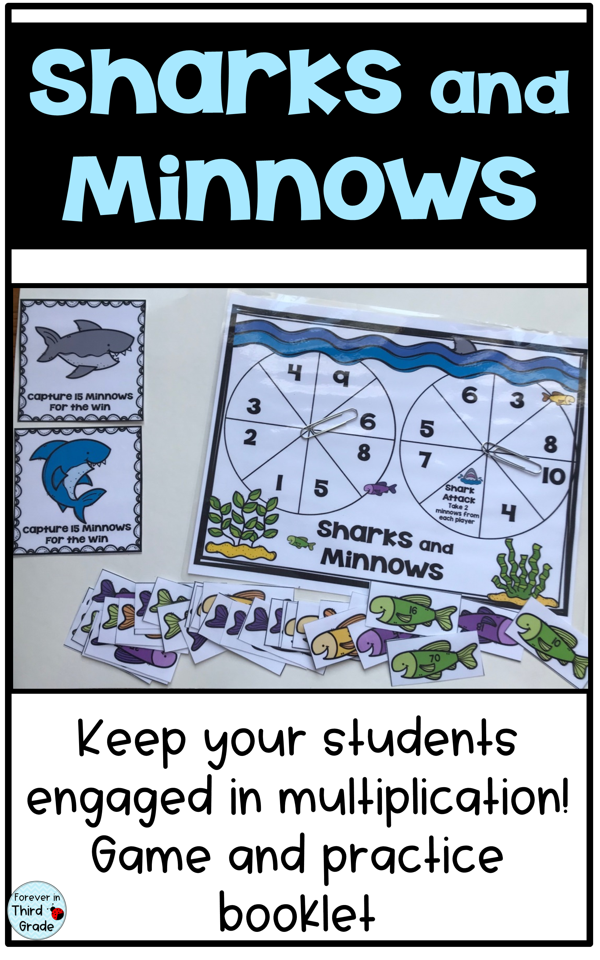 Sharks and Minnows - Multiplication Game | Multiplication practice ...