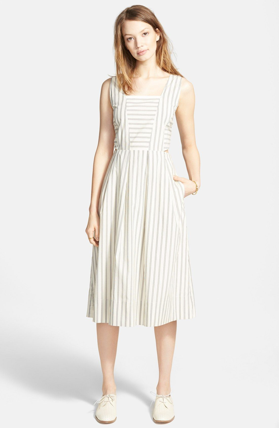 8733f78fb9e Madewell Cutout Stripe Sundress