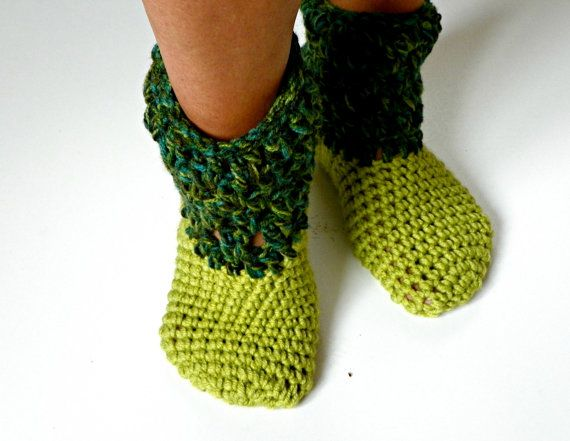 Socks slipper booties Crochet slipper booties winter by yarnisland, $29.90