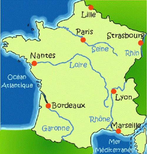 carte ocean atlantique france 61 Best French geography images | Teaching french, Geography