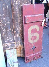 Shutter Turned in to a coat racks so cute www.247moms.com #2…