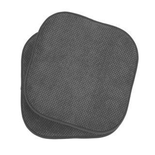 Memory Foam Dining Kitchen Chair Pad Cushion Set Of 2 Grey Ellington