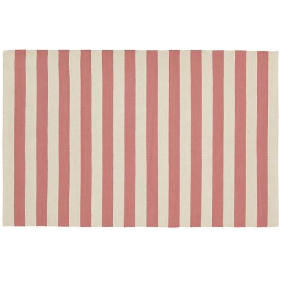 The Land Of Nod Kids Rugs Pink Striped Patterned Rug In