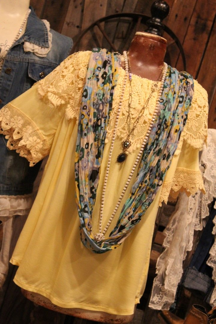Enjoy life yellow blouse clothes for women lace dress