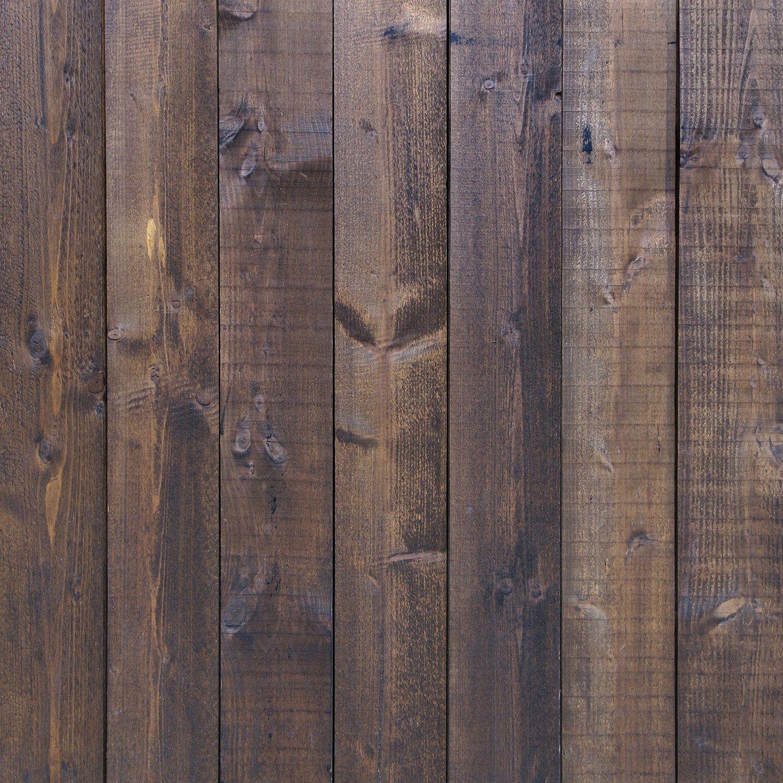 StudioPRO Vinyl Deep Brown Wood Floor Backdrop - (Choose Size) -