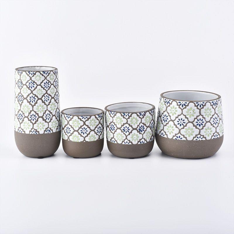 6oz unique ceramic candle jars wholesale   Sunny glassware