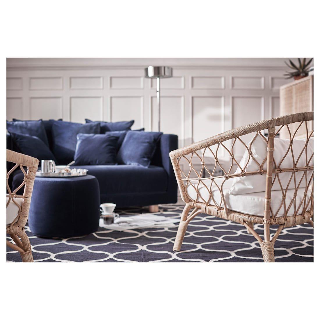 "Ottoman, Sandbacka dark blue, 19 5/8x19 5/8 "" | Ikea ..."