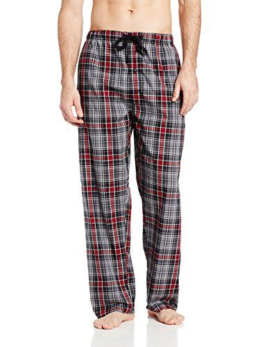 Hanes Men's Woven Plaid Pajama Pant (bestseller) for Bret