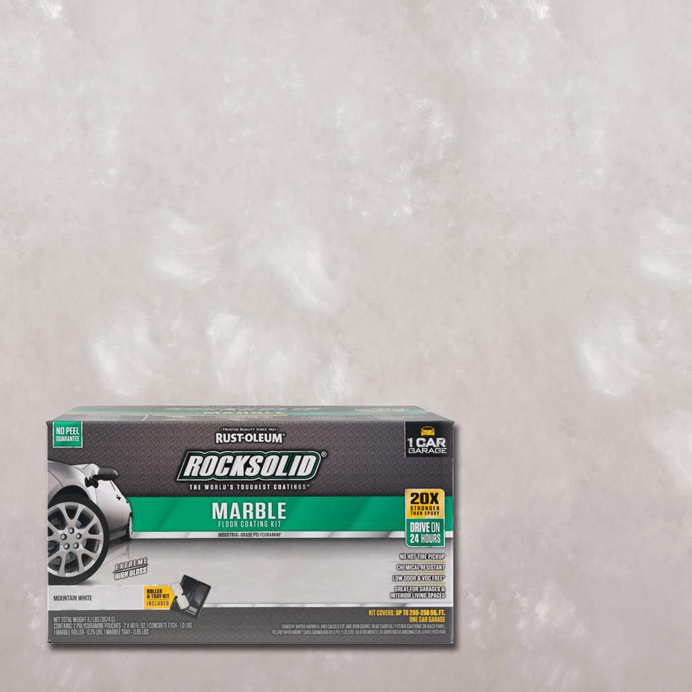 Rust-Oleum RockSolid 70 oz. Marble Mountain White Garage Floor Kit ...