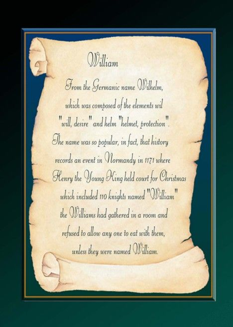 meaning of william name day card ad  sponsored