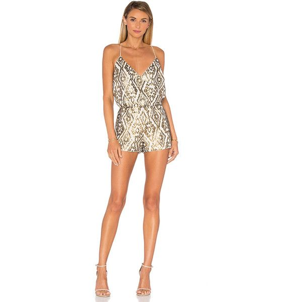 2b18b73fbef SAYLOR Shellie Embellished Romper ( 275) ❤ liked on Polyvore featuring  jumpsuits