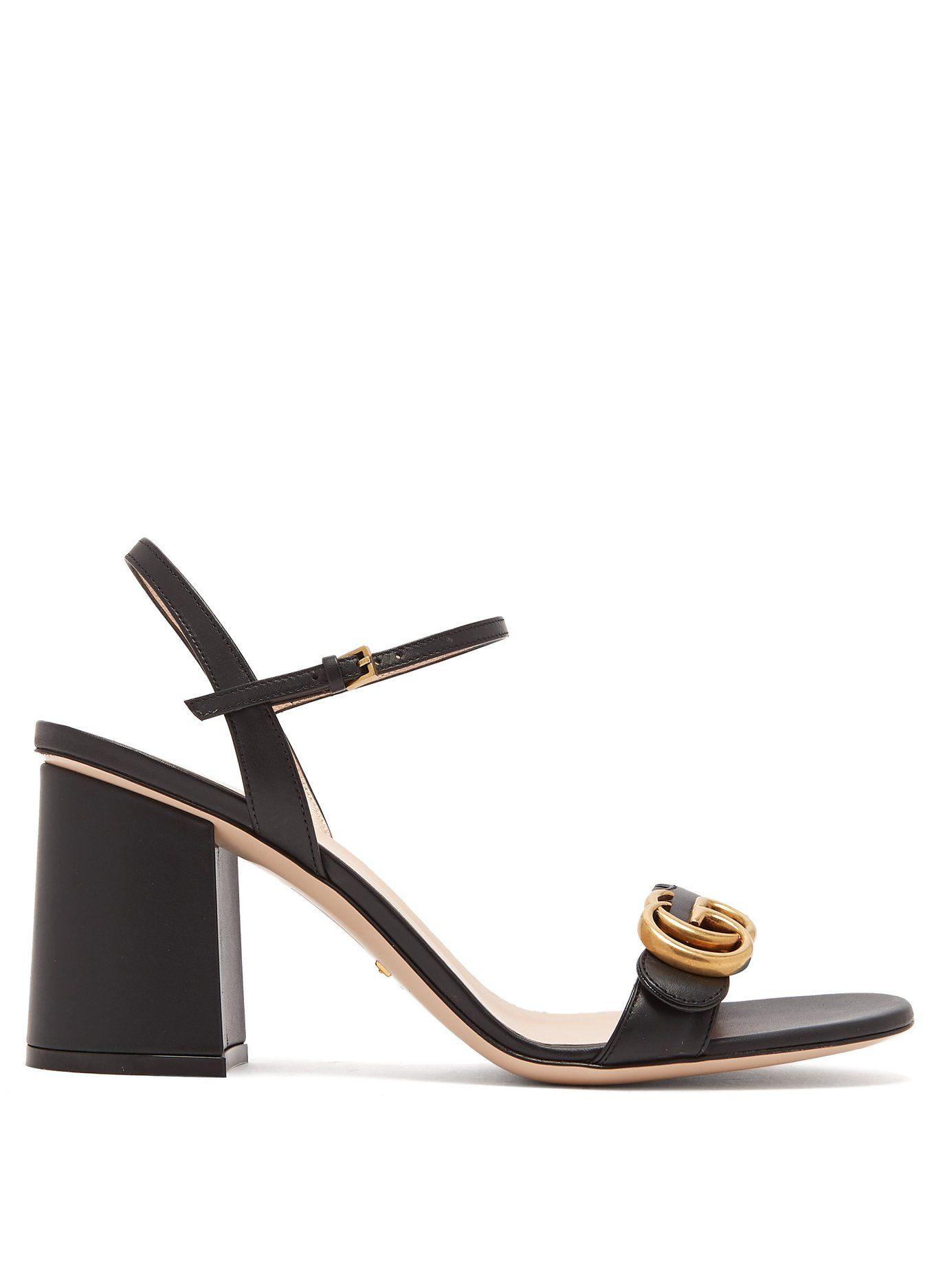 a7b911209dbcc GG Marmont block-heel sandals