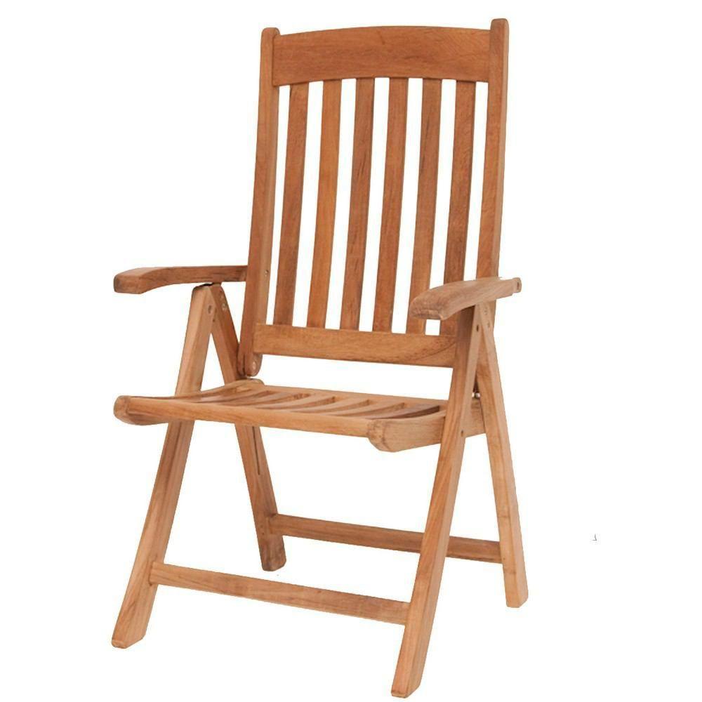 International home miami belfast teak position chair set