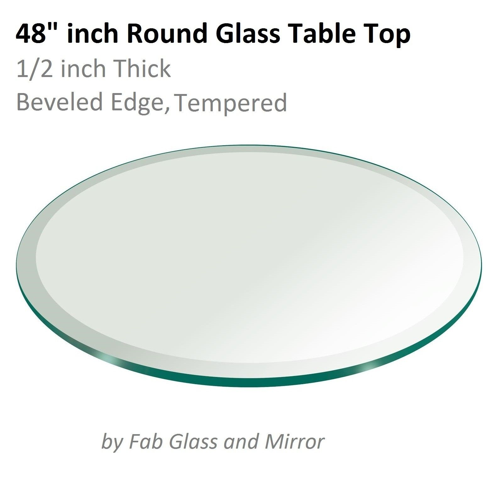 48 Round Glass Table Top 1/2 Thick
