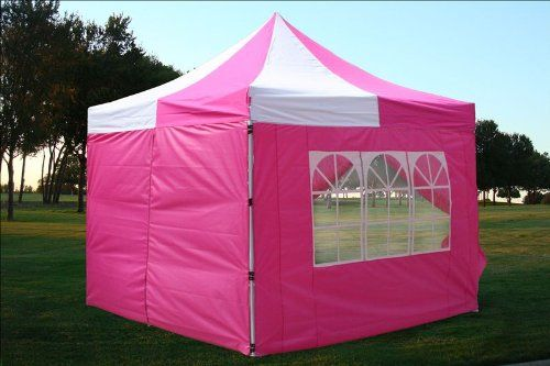 10x10 Pop up 4 Wall Canopy Party Tent Gazebo Ez Pink White WPIC-Store  & 10x10 Pop up 4 Wall Canopy Party Tent Gazebo Ez Pink White WPIC ...