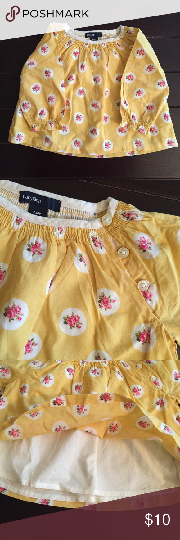 Yellow dress 3-6 months  Baby GAP Infant Swing Top One Piece u Jeans   Gap style
