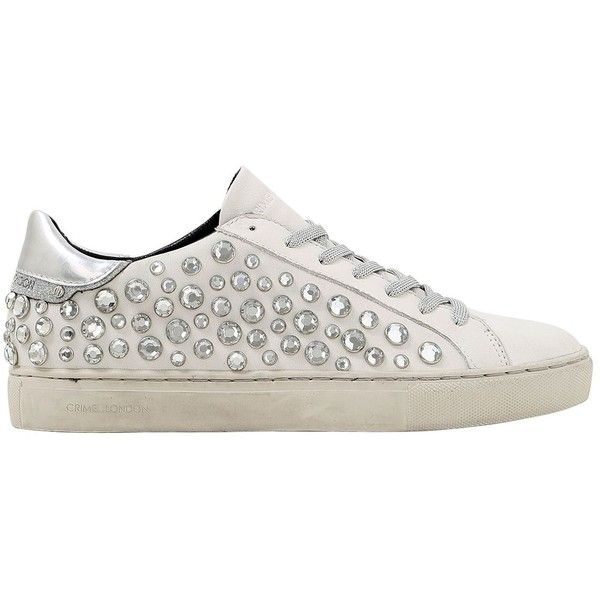 Cheap Sale Clearance Clearance Purchase Crime 20MM EMBELLISHED LEATHER SNEAKERS dFOckVVTIQ