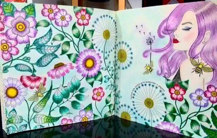 Big flowers double page Secret Garden. Flores grandes página dupla ...